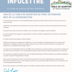 INFOLETTRE (17-03-2021)
